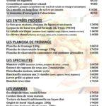 Carte de menu Restaurant Le Vinci 68 Sausheim