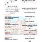 Restaurant le Vinci 68 Sausheim - Menu du jour semaine 19 octobre 2020
