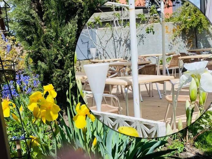 Info clients, Dès 19 mai ouverture de la terrasse le midi du lundi au samedi de 12h00 à 14h00 le soir du mercredi au samedi de 18h30 à 20h30 Vous pouvez également chercher votre repas à emporter avec une remise de -7% Attention à la nouvelle carte de menu. Bien à vous et à très bientôt !