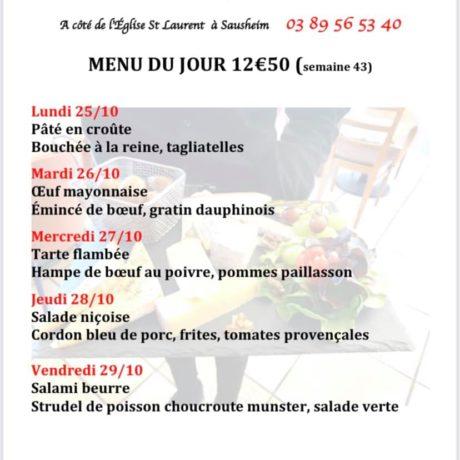 MENUS SEM.43 RESTAURANT LE VINCI -